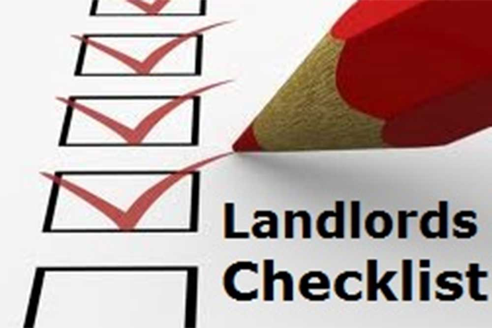 pencil ticking boxes for a landlords checklist