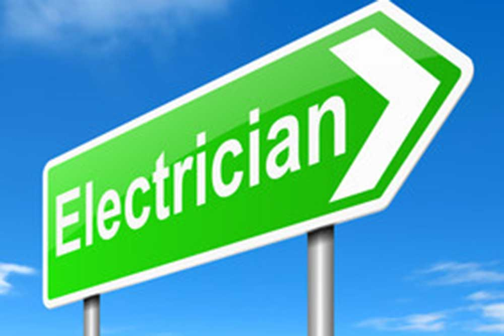 signboard saying electrician